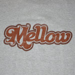 LOGO TEE Gray / Brown Front Print