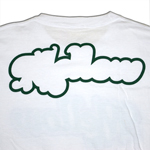 LOGO TEE White / Green Back Print